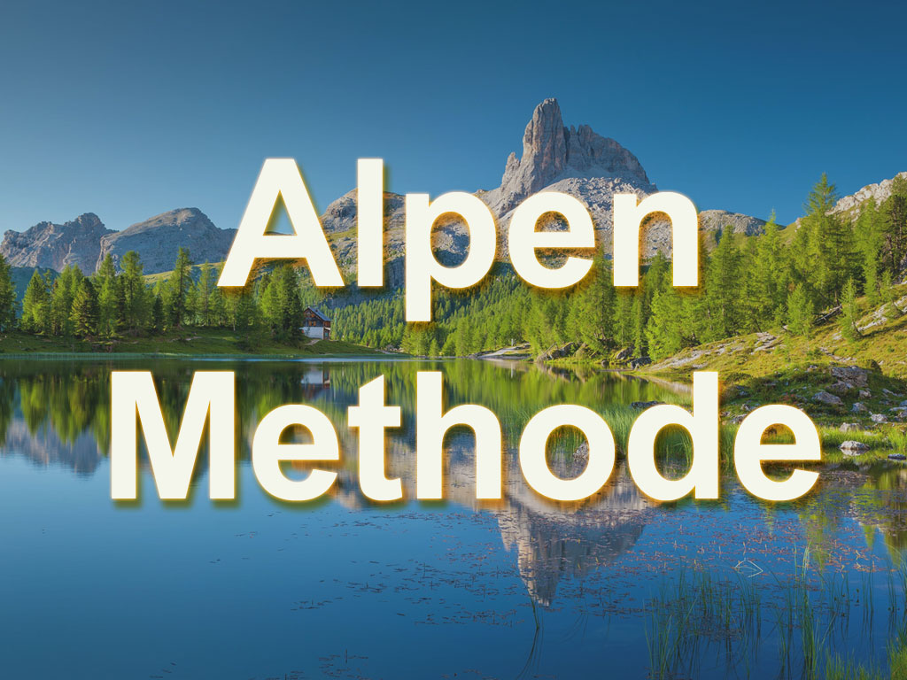Alpen Methode - Aufgaben schnell und einfach planen